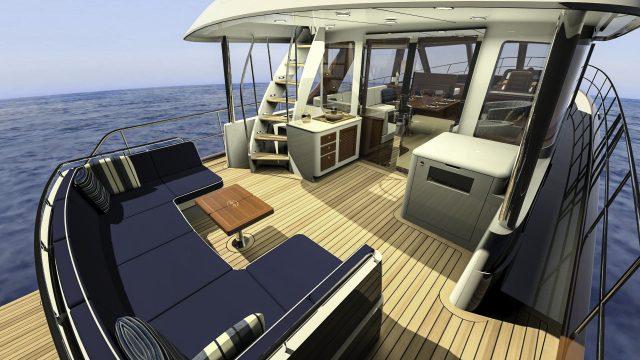 Hunt Yachts Ocean Series 63 Aft Deck