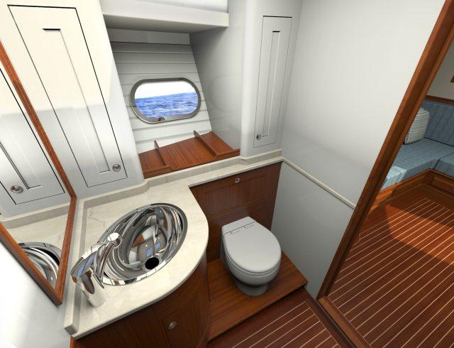 Hunt Yachts Ocean Series 63 Forward Head