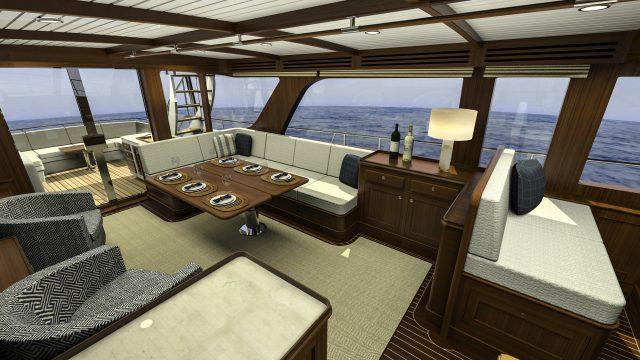 Hunt Yachts Ocean Series 63 Main Salon
