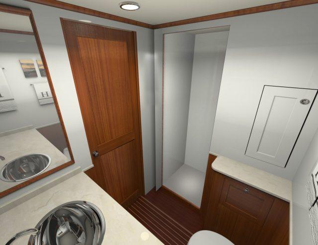 Hunt Yachts Ocean Series 63 Master Stateroom Head