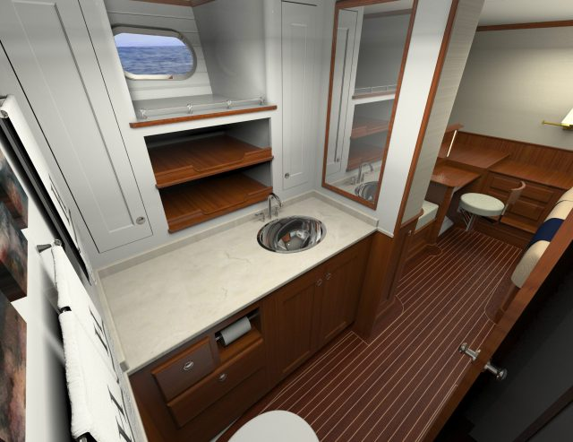 Hunt Yachts Ocean Series 63 Master Stateroom Head 2