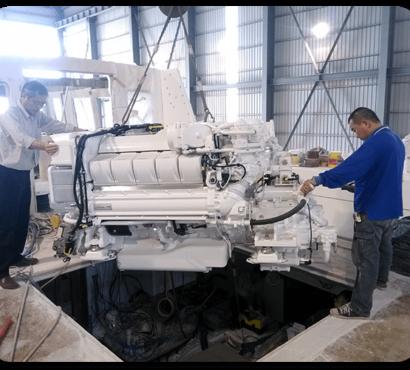 Building the Hunt 80: Waterjet Installation