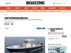 Boating Magazine: HUNT INTRODUCES NEW 32CC