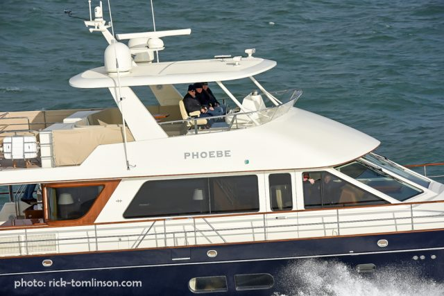 Hunt 76, MY Phoebe off the Isle of Wight. photo: rick-tomlinson.com